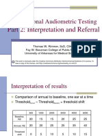Occupational Audiometric Testing Part 2 With Notes