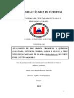 Evaluacion de Dos Abonos Organicos y Quimicos