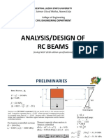 Singly Reinforced RC Beams (NSCP 6th)