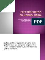 Electroforesis en Hemoglobina
