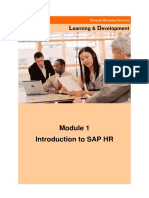 Introduction to SAP HR Module 1