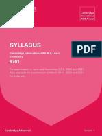 Chemistry A Level Syllabus