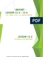 Science Report on Lessons 13.2 - 13.4, Group 1, Gr.7 - St. John the Baptist