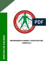 De-p01 Ejecucion Curricular