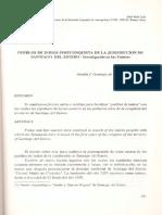PUEBLOS DE INDIOS POSTCONQUISTA DE LA JURISDICCION DE SANTIAGO DEL ESTERO - Investigación en las Fuentes