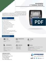 Bluetooth Thermal Printer Spec - Analogics BT-3T