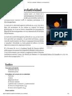 Teoría de La Relatividad - Wikipedia