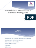 NWS Residual Stress Measurement in Dissimilar Welding Joint