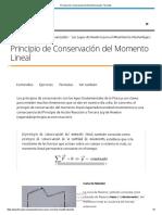 Principio de Conservación Del Momento Lineal