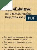 English Advertisement