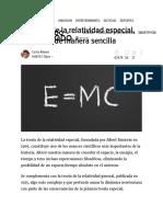 La Teoría de La Relatividad Especial, Explicada de Manera Sencilla