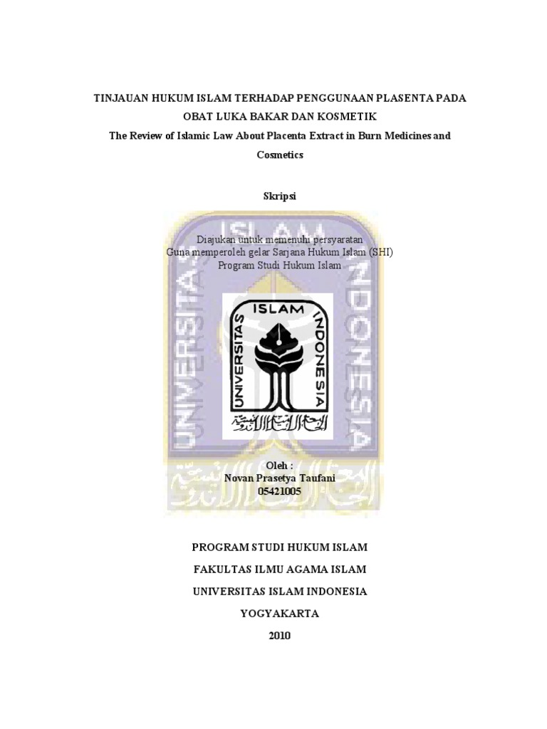 Uii Skripsi Tinjauan Hukum Islam 05421005 Novan Prasetya Taufani 8386376293 Preliminari