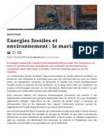 Energies fossiles et environnement