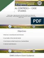 Internal Controls - Case Studies