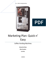 Marketing Plan Coffee Vending Machines