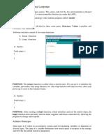 Documentation- Arduino Programming Language