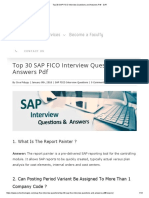 Top 30 SAP FICO Interview Questions and Answers PDF - SVR