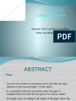 ABSTRACTS and Paragraphs