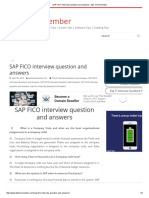 SAP FICO Interview Question and Answers _ Tips to Remember