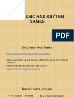 2. Folk Music and Rhythm Names