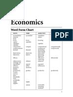 Word Form Chart (Economics)