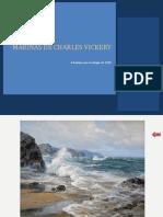 Portada y Diez Láminas de Marinas de Charles Vickery