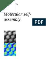 Molecular Self Assembly