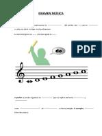 Examen Música