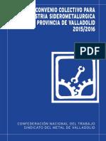 Convenio Colectivo Para La Industria Siderometalurgica de La Provincia de Valladolid 2015-2016