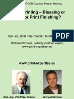Digital Printing-Blessing or Trap M Kiermeier