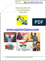 A2Z August 2017 Current Affairs PDF