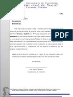 Ejemplo de La Carta Para La Empresa