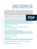 DGFT Amendments