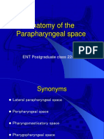 Anatomy of the Parapharyngeal Space
