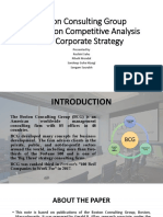 BCG Concept of Competitive Analysis & Corporate Strategy