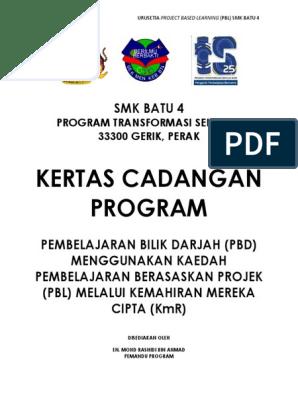 Kertas Kerja Program Pbl 2018