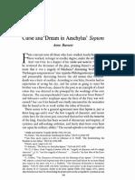 Curse and Dream in Aeschylus' Septem