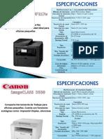 Ficha Tecnica Impresoras Canon