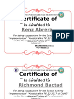 Certificates Tvl