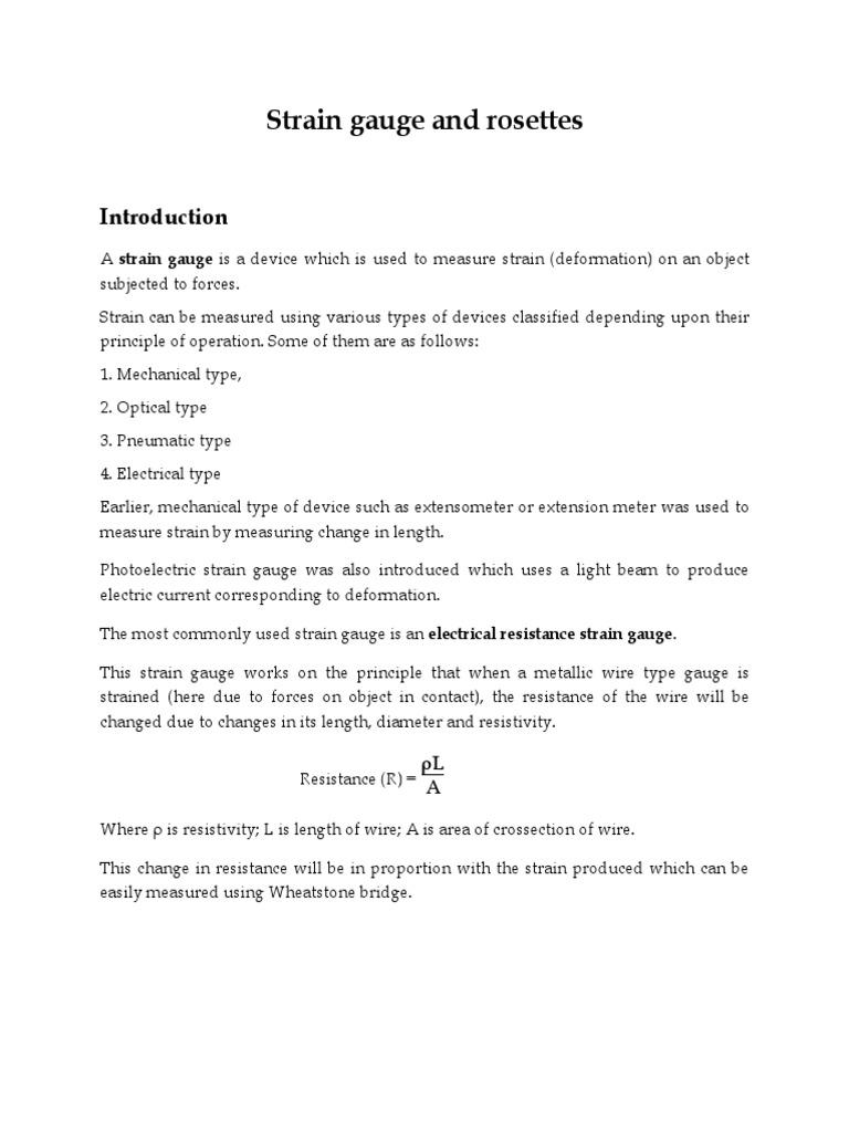 Strain Gauge And Rosettespdf Deformation Mechanics Meter Electronic Circuits Diagramelectronics Projects Trigonometric Functions