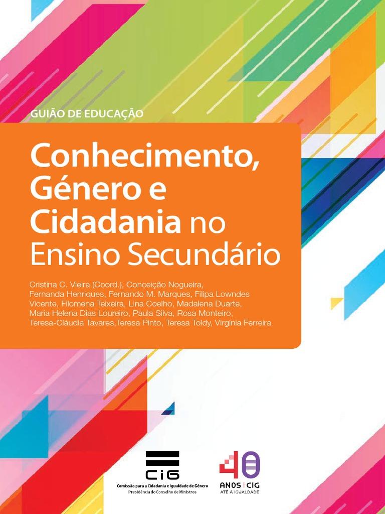 Conhecimento Genero e Cidadania Ensino Secundario Versao Digital