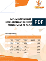 NFJPIA1718 Safekeeping and Management of Documents IRR