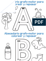 Abecedario Grafomotor Para Colorear y Repasar