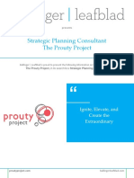Executive Position Profile - Prouty Project - Strategic Planning Consultant