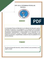 Misión y Visión de La Universidad Técnica de Machala