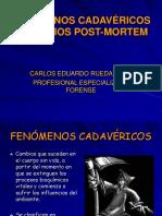 FENÓMENOS CADAVÉRICOS - CRONOTANATODX