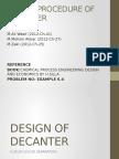 Design of Decanter Fssafas