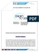 Strategic Management Analysis  of Engro Foods