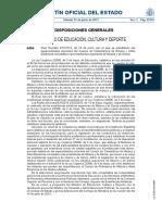 RD 427-2013  especialidades Catedráticos