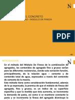 Clase 5 - Diseño de Mezclas Metodo Modulo de Fineza